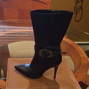 🔥 Carlos Santana Mid-Calf Leather Boots.
